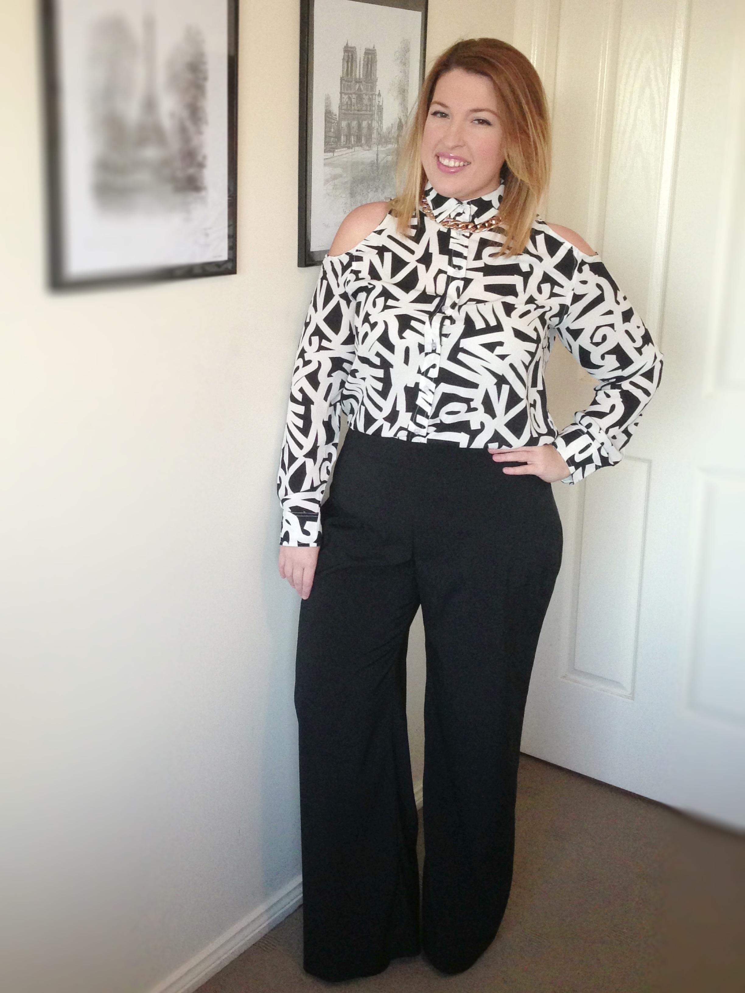wide leg work pants - Pi Pants